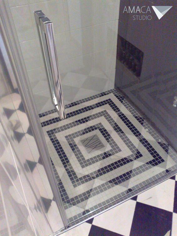 Casa a m amaca studio - Doccia a pavimento mosaico ...