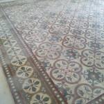 Recupero del pavimento di cementine decorate