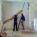 Fase di disegno dei gradini a mensola
