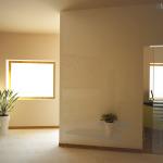 Progetto: doppia porta per l'ingresso con vista verso il piccolo angolo segreteria