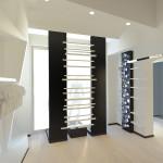 Proposta di restyling per l'interno: new color_NERO utilizzato come colore di fondo per i due pannelli in vetrina
