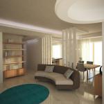 Progetto della zona giorno_soluzione con divano circolare
