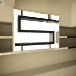 Soluzione ad S per la vetrina/finestra laterale