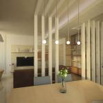 Progetto dei divisori delle zone nell'open space