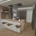 fase di progetto esecutivo_dettaglio angolo cucina tavernetta
